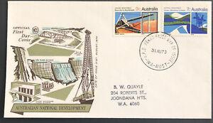Australia FDC WCS 1967 Australian National Development