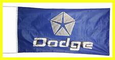 DODGE FLAG BANNER  RAM 3D BLUE grand caravan viper dakota 5 X 2.45 FT 150 X 75 C
