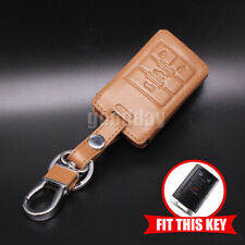 Leather Keyless Car Smart Remote Key Fob Case Cover Holder For Cadillac