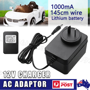 12V 1000mA AC Adaptor Battery Charger For Kids Ride On Car Quad Genuine OZ