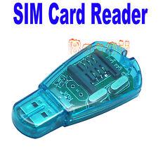 USB 2.0 Bolsillo Teléfono lector de tarjeta SIM Escritor GSM CDMA 3G de backup de copia para XP Cg