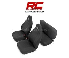 1997-2002 Jeep TJ LJ Wrangler Rough Country Neoprene Seat Covers - BLACK [91000]