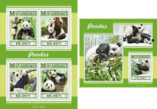 Pandas Panda Bears Bären Fauna Animals Mozambique MNH stamp set