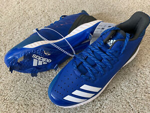 Adidas Softball Metal Cleats Blue Size US 8 Girls Womans BNWT