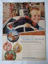 "Vintage Advertising Evinrude 14"" x 10.5"" Ad Outboard Motors Boat Marine"