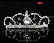 2017 Rhinestone Crystal Tiara Hair Band Girl Bridal Princess Crown Birthday S8B6