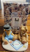 cherished teddies 811742 Jerald And Mary Ann Game Night