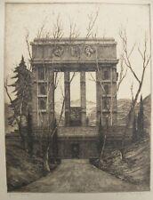 IRAS BALDESSARI (Innsbruck 1894-Roma 1965) magnifica incisione cm 61x46 anni '30