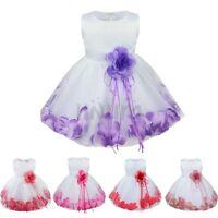 Flower Girls Tutu Dress Kids Petals Tulle Princess Wedding Pageant Party Gowns