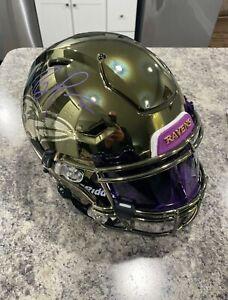 Ray Lewis Baltimore Ravens Signed Speed Chrome Flex Authentic Helmet w/ 3D Bump