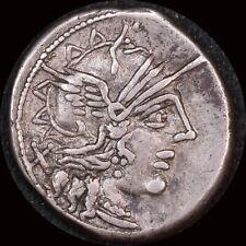Ancient Rome (Republic)  123 BC C. Porcius Cato Silver Denarius Victory in biga