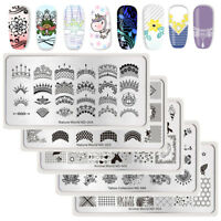 NICOLE DIARY Nail Art Stamping Plates Lace Geometry Flower Stamp Image Templates