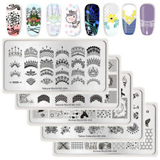 NICOLE DIARY Nagel Stempel Schablone Spitze Geometrie Blume Nail Stamping Plate