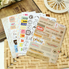 Wholesale Diary Book Paper Planner Stickers Transparent Calendar Scrapbook ~