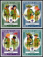 Djibouti Scouting Stamps 2020 MNH Girl Boy Scouts 4v Set