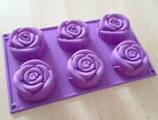 Cake Mold, Soap Mold 6-Rose Flower Silicone Mould For Candy Chocolate