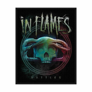 """IN FLAMES - """"BATTLES""""- WOVEN SEW ON PATCH - OFFICIAL"""