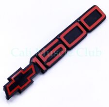 90 91 92 93 Chevy SS 454 1pc Door Emblem Moulding Red Black Nameplate 454ss 1500