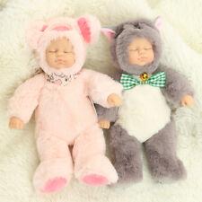 10'' Newborn Sleeping Soft Silicone Vinyl Reborn Baby Lifelike Twins Doll Gifts
