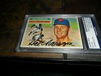 1956 TOPPS #311 Hal Naragon PSA/DNA Signed CLEVELAND INDIANS Authentic Autograph