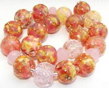 "Sistersbeads ""G-Wild Rose"" Handmade Lampwork Beads"