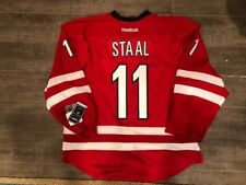 AUTHENTIC J Staal Carolina Hurricanes Home Red Reebok Jersey 54 NWT