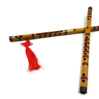 Tradicional de bambú largo flauta clarinete estudiante instrumento musical 7Hole