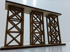 Laser Cut OO Scale Model Railway Bridge Supports Pack of Two 80mm High