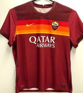 Nike AS Roma FC 2020/21 Authentic Vaporknit Match Soccer Jersey Men Size 2XL New