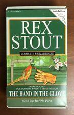 Rex Stout Nero Wolfe Mystery HAND IN THE GLOVE Unabridged Audio Book Cassette
