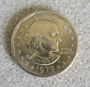 RARE Susan B Anthony Silver Dollar 1979 Coin P Mint Good Circulated Condition