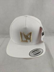 LAFC Mitchell & Ness Logo Snapback OSFM Hat - White -2014 Inaugural Season - New