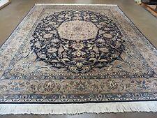 8' X 10' Vintage Hand Made Fine Persian Nain Isfahan Wool Silk Accents Rug Nice