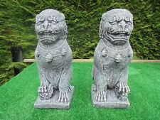 Pair of Left and Right Foo Dogs garden ornament