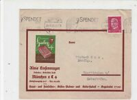 Germany 1931 Munchen Cancel Stone Head Machine Slogan Stamps Cover ref R 19292