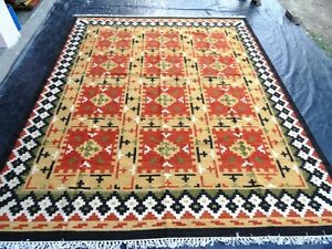 Stunning Beautiful Color Handmade Best Large Area Kilim Rug 5x8 ft