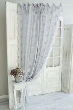 Van Deurs Gardine Store Schleifengardine Maria Grau 200x250 Shabby Landhaus