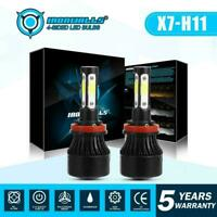 2x H11 H8 H9 LED Headlight Kit Bulbs Low Beam 6000K White For Toyota Prius 09-15