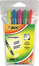 Surligneurs Bic 'Technolight'- Etui de 5 pièces
