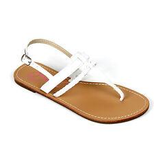 New Womens T Strap Thong Gladiator Braided Strap Flat Flip Flops Slipper Sandals
