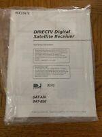 OWNERS MANUAL ~ SONY DIRECTV Digital Satellite Receiver ~ SAT-A50 & SAT-B50