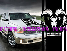 Hemi 5.7l Dodge Ram Head Hood Truck Decal Mopar Stickers Racing  Choose Color