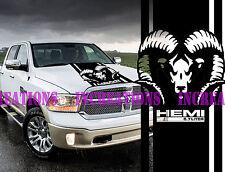 Hemi 5.7l Dodge Ram Head Hood Truck Decal Mopar Stickers Racing  Choose Color