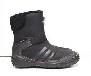 Adidas Germany UK Originals 3 Stripes Clima Warm Triple Black Faux Fur US 7.5