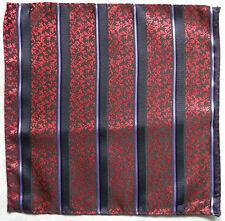 Hankie Pocket Square Handkerchief MENS Hanky RED PURPLE STRIPED