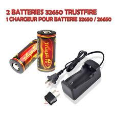 Kit de 2 Batteries rechargeables 32650 Trustfire 6000 mAh avec un Chargeur
