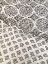 Nina Campbell Home Paisley Comforter Reversible Full Queen White Gray Farmhouse