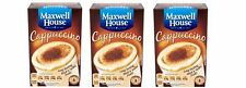 3 X Maxwell House Cappuccino Coffee 8 Individuel Sachets