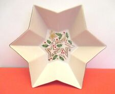 "Sale Lenox Porcelain Star ""Holly Berry"" Bowl, Usa"