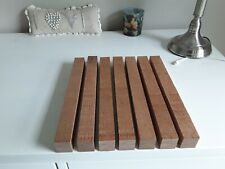 7 no Solid Mahogany Hardwood Timber offcuts Wood Crafts  lovely pieces.